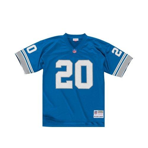 Mitchell & Ness Barry Sanders Detroit Lions Replica Throwback NFL Trikot Blau L (Detroit Lions Uniformen)