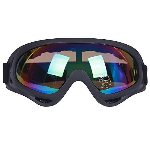 Kottle Outdoor-winddicht Skibrillen mit UV-Schutz, Motorrad fahren Gläser CS Armee taktische militärische Brille Schutzbrille (Bunt) (Taktische Gläser)
