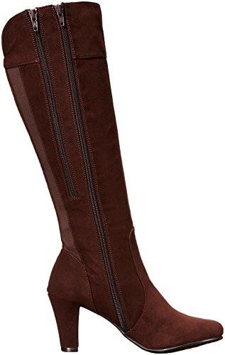 A2 By Aerosoles Log Role Rund Stoff Mode-Knie hoch Stiefel Dark Brown