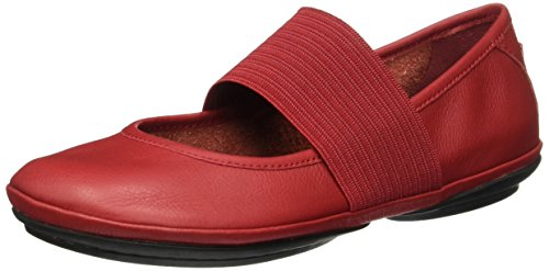 CAMPER Damen Right Nina Mary Jane Halbschuhe, Rot (Medium Red 610), 42 - Schuhe Für Camper Frauen