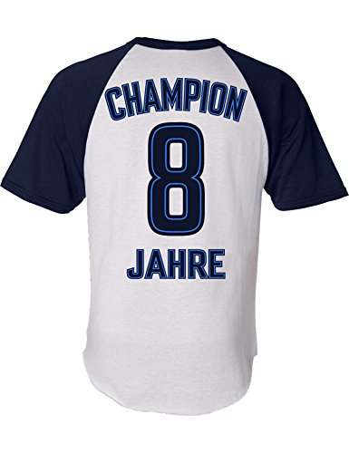 Geburtstags Shirt: Champion 8 Jahre - Sport Fussball Trikot Junge T-Shirt für Jungen - Geschenk-Idee zum 8. Geburtstag - Acht-TER Jahrgang 2011 - Fußball Club Fan Stadion Mannschaft (128)