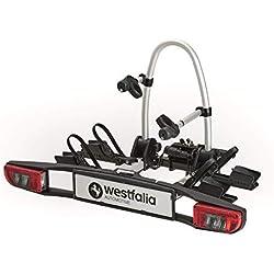 Westfalia 350036600001 BC (Version 2018) remorque | Porte d'attelage Repliable pour 2 Adapté aux vélos électriques | Charge utile de 60kg | Extensible avec Divers Accessoires