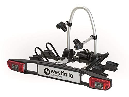 Westfalia BC 60 (Versione 2018) - Portabici ripiegabile da gancio di traino per 2 bici - compatibile con le eBike - carico massimo di 60 kg - Più accessori disponibili - Adattamento univers