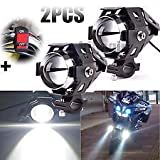 #8: Delhitraderss 2pcs U5 Waterproof Motorcycle LED Driving Fog Light w/Switch For-Bajaj Pulsar 220 DTS-i