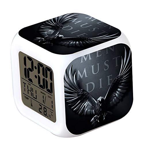 Game of Thrones Alarm Clock Weißer Hintergrundbeleuchtung Bunte Digitale Elektronische Alarm Clock...