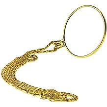 """BXT Collar con colgante lupa 5x lupa con 36""""oro cadena espectáculo de monóculo lupa y 1,75"""" lente de cristal para lectura lupa Zoom Jewelry inpecting cumpleaños regalo de Navidad"""