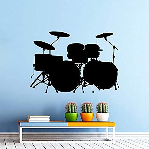 Custom Wall Sticker Kit Drums Wall Decal Rock Band Art Design Home Bedroom Decor Music Drum Wall Art Mural 82X57Cm