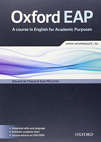 Oxford EAP: Upper-Intermediate/B2: Student's Book and DVD-ROM Pack by Edward de Chazal (17-May-2012) Paperback