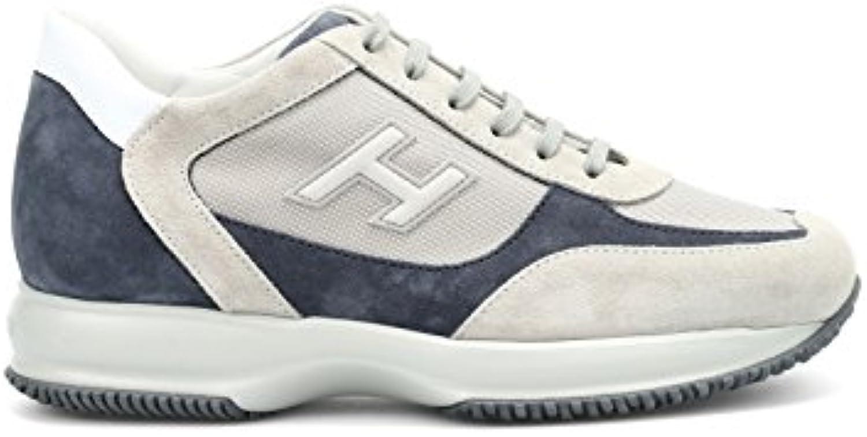 Hogan Herren HXM00N0Q1029LP221R Beige/Blau Wildleder Sneakers