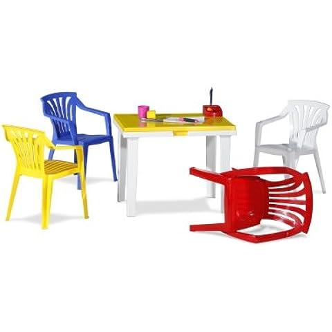 Best 91150099 set de mobiliario exterior - sets de mobiliario exterior (Multi, De plástico, 60 cm, 45