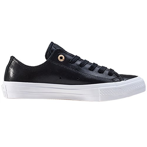 Converse Chuck Taylor All Star II Black Leather Trainers Noir