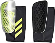 adidas Men's X PRO Shin Guards, Silver Metallic/Solar Yellow/White, X-L