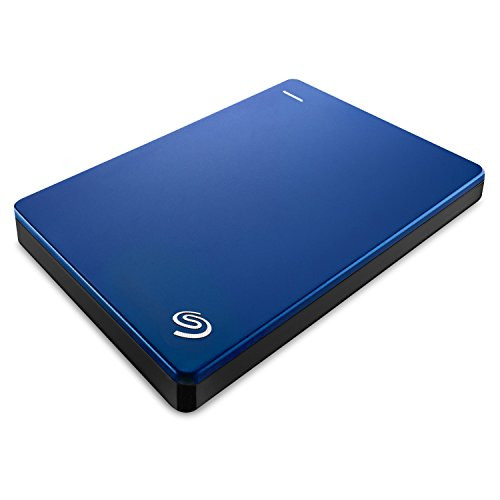 Seagate Backup Plus Slim 2TB Portable External Hard Drive with 200GB of Cloud Storage & Mobile Device Backup (Blue) (STDR2000302)