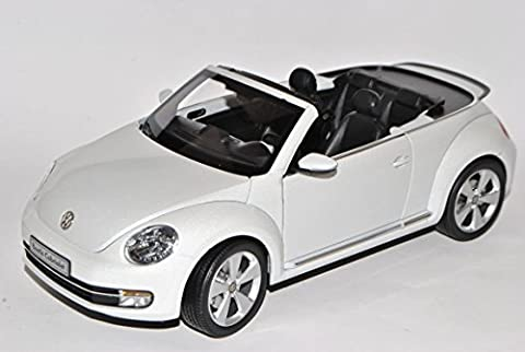 VW Volkswagen Beetle Cabrio Oryx Weiss Ab 2012 1/18 Kyosho Modell Auto mit individiuellem Wunschkennzeichen