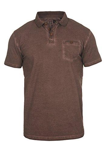 !Solid Termann Herren Poloshirt Polohemd T-Shirt Shirt mit Polokragen aus 100% Baumwolle, Größe:XXL, Farbe:Coffee Bean (5973) (Braun-piqué-polo-shirt)
