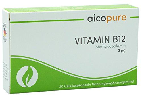 VITAMIN B12 3 µg • reines Methylcobalamin für höchste Bioverfügbarkeit • vegan • Kapseln • Made in Germany (30 Kapseln)