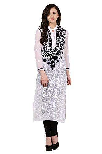Saadgi-Lucknowi-Chikankari-Embroidered-Kurta