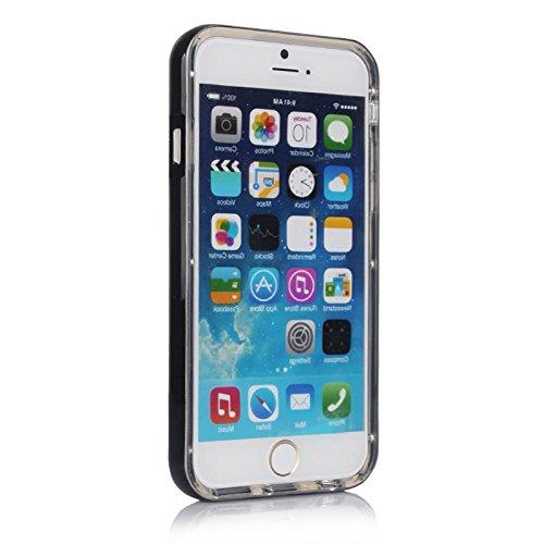 HSRpro® iPhone SE 5 5S LITE Schutzhülle Slim Tasche Back Cover Case Etui Transparentes und schlankes Design Rot blau