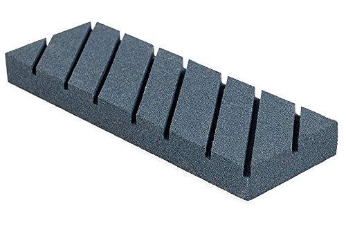 ACZZ Piedra aplanadora - Herramienta de afilado para re-nivelar Waterstone, Whetstone, Oil Stones - Placa de lapeado de esmerilado basto con ranuras y grano rugoso - Afilador fijador Flattener para W