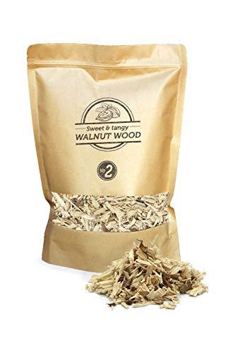 Smokey Olive Wood 1.7L Räucherchips aus Walnüssen-Holz, Räucherspäne Körnung Nº2: 5mm-1cm