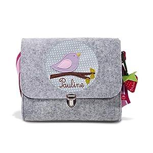 Kindergartentasche Filztasche für Mädchen mit Namen & Vögelchen