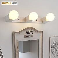 BBSLT Creativo della moda specchio armadio luce parete semplice bagno bagno camera da letto LED impermeabile impermeabili specchio lampada fendinebbia 450 * 50 * 80 mm , white