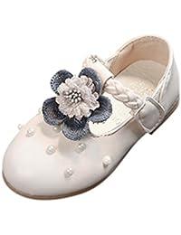 Topgrowth Sandali Bambina Ragazza Eleganti Scarpe Fiocco Partito Nozze Spiaggia Piatto Scarpe da Principessa (22, Viola)
