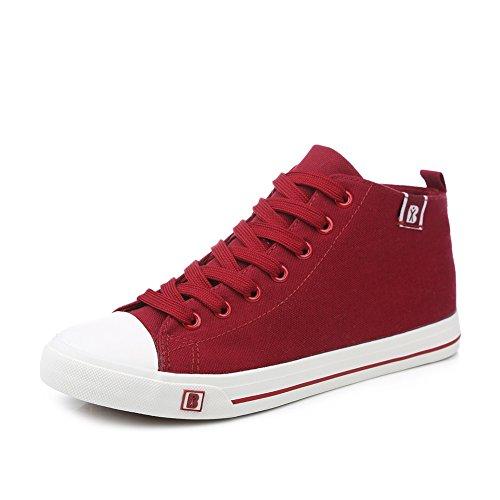 Mme toile chaussures d'automne /Chaussure frais pur respirant Hi féminin/Chaussures de couleur bonbon étudiant respirant E