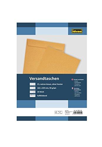 Preisvergleich Produktbild Idena 10225 - Versandtasche DIN C5, 90 g / m², haftklebend, ohne Fenster, 10 Stück, FSC-Mix, braun