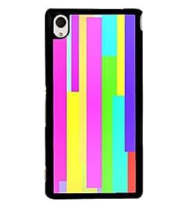 Multicolour Pattern 2D Hard Polycarbonate Designer Back Case Cover for Sony Xperia M4 Aqua :: Sony Xperia M4 Aqua Dual
