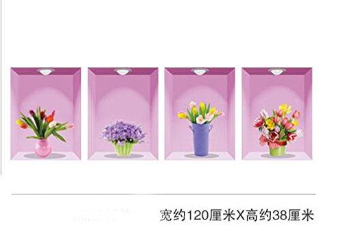 QTT 3D Stereo Schlafzimmer Wohnzimmer Erdgeschoss Zimmer in einem wasserdichten Selbstklebende Wallpaper Wallpaper stock Aufkleber wand Postern dekoriert sind, 120 * 38 cm, h