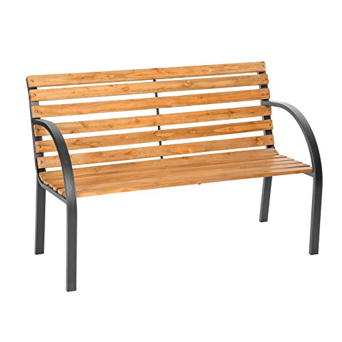 "TecTake Gartenbank Parkbank Holz - Diverse Modelle - (\""Micha\"" 119,5 x 62 x 83cm | Nr. 401425)"