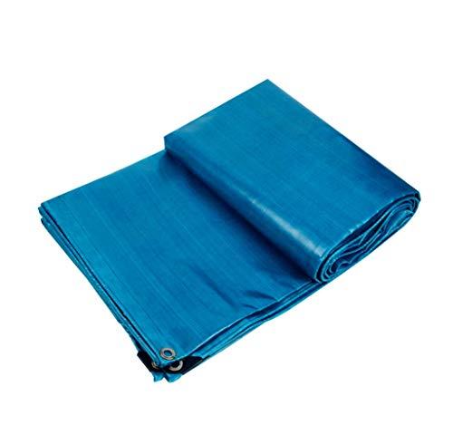 JHNEA Heavy Duty Bâche étanche, Multi Purpose résistant aux UV/Usure Proof Poly Tarp, PVC Durable Couteau Chiffon avec œillets, Bleu, 2x3m