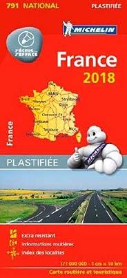 Carte France Plastifiée Michelin 2018
