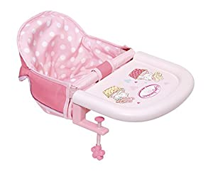 Zapf Baby Annabell Table Feeding Chair Doll Feeding Chair - Accesorios para muñecas (Doll Feeding Chair, 3 año(s), Rosa, Baby Annabell, Niño, Chica)