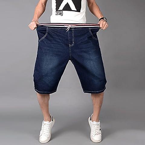 Herren Slim Jeans Shorts Hosen, Casual / Daily Beach Einfache Mid Rise Polyester Micro-elastischen Sommer, Dunkelblau, 6XL