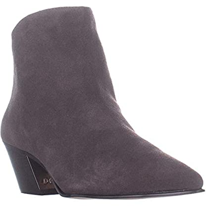 DKNY Bason Back Zip Ankle Boots, Brown Suede