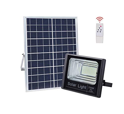 L-SUN 200W LED Outdoor Solar Flutlicht, IP67 wasserdichte Outdoor Sicherheits Flutlicht Leuchte für Garten, Garage, Auto-On/Off Dämmerung bis Morgendämmerung (Outdoor-solar-flut-licht-bewegung)