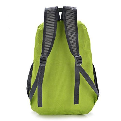 TigerFighting Ultralight Packable Daypack dello zaino Zaino per il campeggio esterno di viaggio in bicicletta Rosa