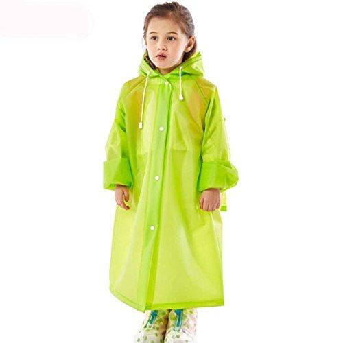 Yuany Kinder Regenmäntel, Regenmantel Lange Schüler Regenmantel Männer und Frauen wasserdichte Regenmantel Outdoor Wandern transparenten Regenmantel (Farbe: D-L)