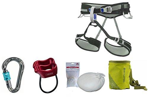 Kletter-Set LACD 1.4 - Klettergurt Größe S + Mammut Karabiner + Tube + Chalkball + Chalkbag