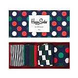 Happy Socks 4 Paar Big Dot Geschenkbox Regular - XBDO09 - Damen und Herren-Socken (41-46, Mehrfarbig)
