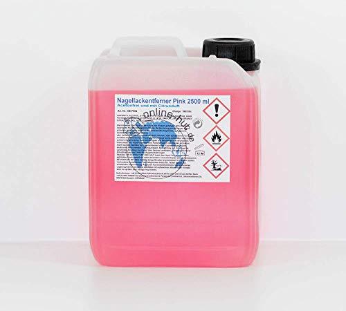 online-hut 2,5 Liter Nagellackentferner Pink mit Citrusduft