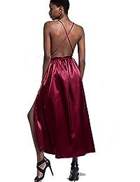 fd7f16061b7d Abiti Sexy per Donna con Scollo a V Profondo Senza Schienale per Prom Party  Club Vestire