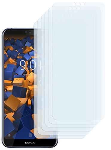 mumbi Schutzfolie kompatibel mit Nokia 7.1 2018 Folie klar, Bildschirmschutzfolie (6x)