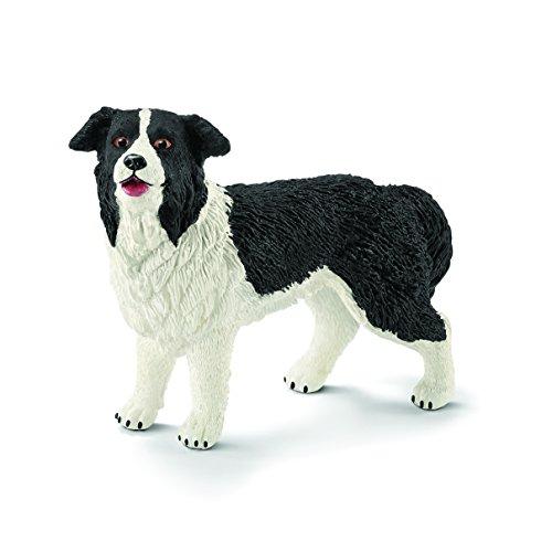Schleich 16840 - Border Collie, mehrfarbig (Collie Hund Figur)
