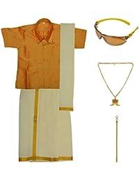 Preethi Dresses Boys' Art Silk Dhoti Set