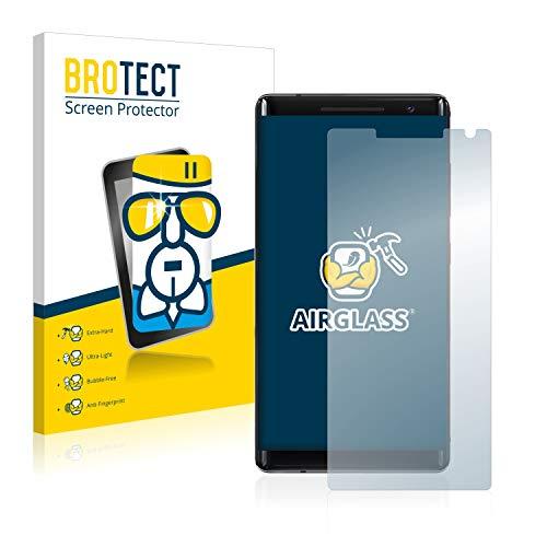 BROTECT Panzerglas Schutzfolie für Nokia 8 Sirocco - Flexibles Airglass, 9H Härte, Anti-Kratzer