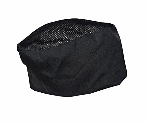 CHEFSKIN Cool Max Beanie Mesh Top Baker Cook Chef Hat Ultra Light und Cool Auch Gut für Chirurgen DRS MDS Set of 3 Black (Best Value)