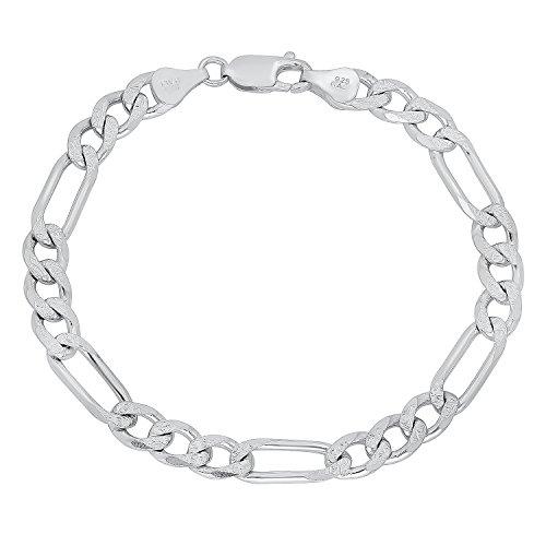 mens-66mm-solid-925-sterling-silver-diamond-cut-figaro-link-bracelet-9